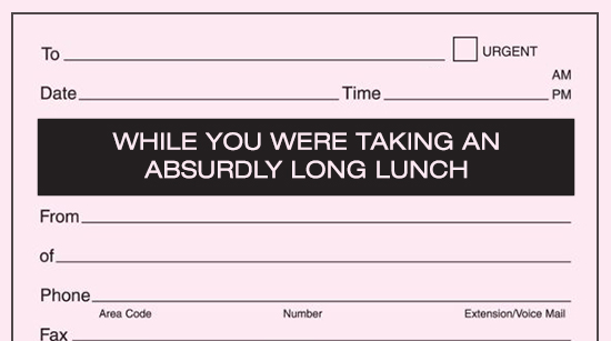 12 'While You Were Out' Notepads Every Administrative Professional Needs