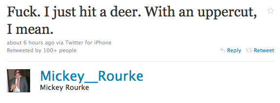 Tweet of The Day: Fake Mickey Rourke