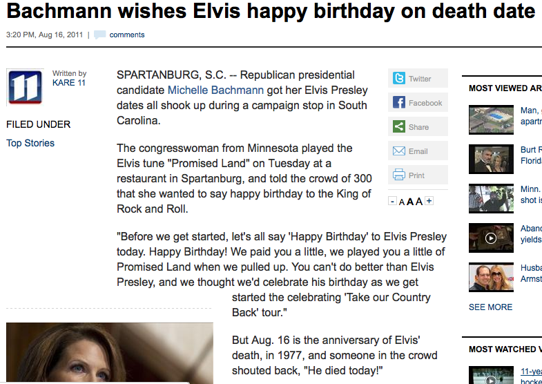 The best Michele Bachmann gaffe of the month.