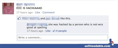 The definitive list of the best, most obnoxious responses to misspellings on Facebook.