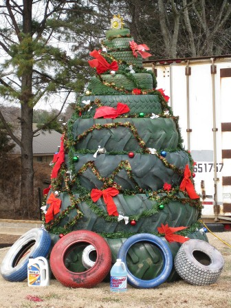 The 11 most white trash Christmas trees in existence.