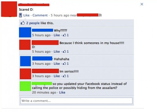7 more examples of Facebook status updates posted at wildly inappropriate moments.