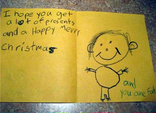 5 unintentionally inappropriate christmas cards from children