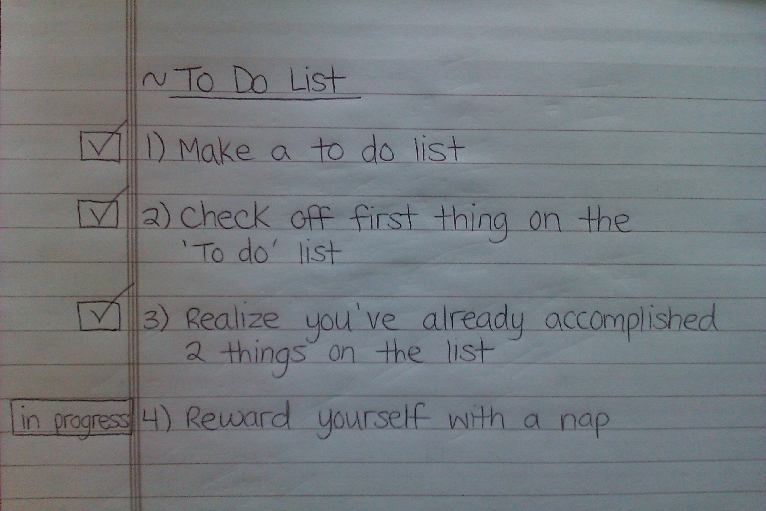 A to-do list you might actually finish.