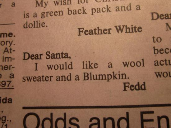 The most perverse favor ever asked of Santa Claus.
