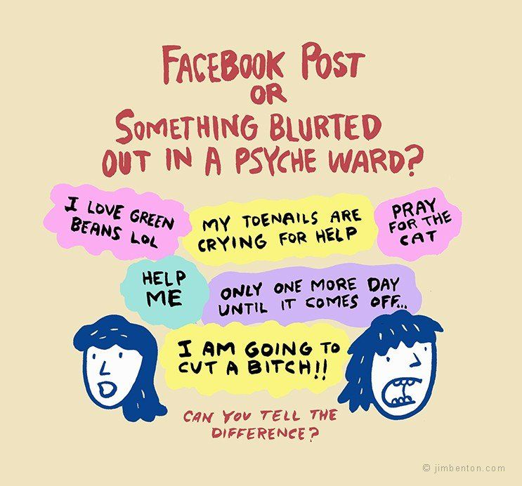Fun new Facebook game proves that everyone in your Facebook feed is insane.