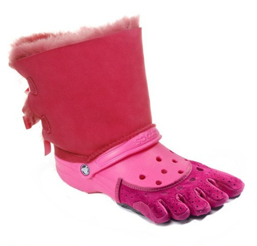 Now you can wear all of your ugliest shoes at the same time.