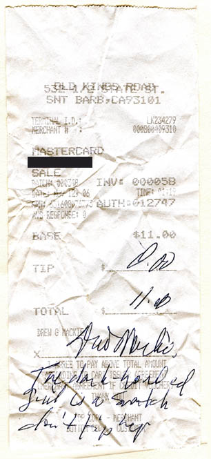 8 of the most inconsiderate or insane tippers in restaurant history.