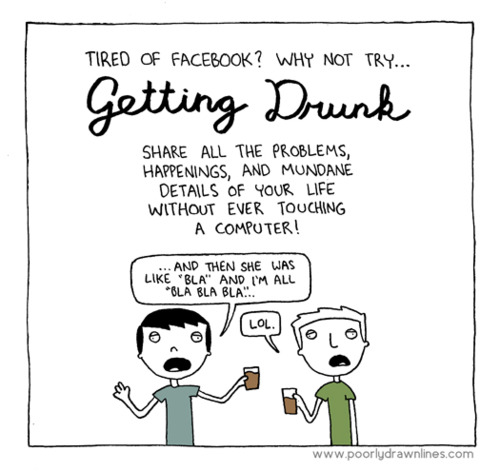 Comic strip announces fun new alternative to Facebook.