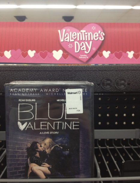 Wal-Mart accidentally chooses the worst possible DVD to promote for Valentine's Day.