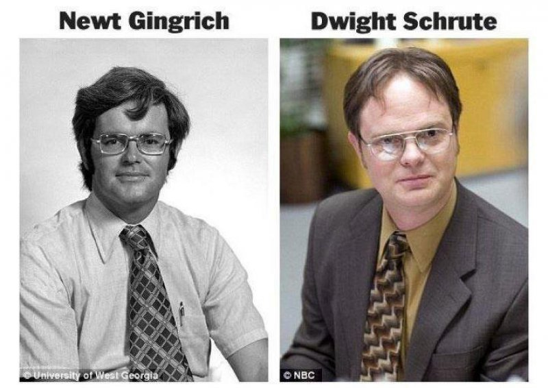 Young Newt Gingrich looks like present day Dwight Schrute.
