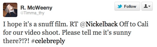 WINNERS CHOSEN: Check out our favorite smart-ass responses to a tweet from Nickelback!