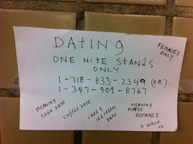 Important flyer for any Brooklyn woman desperate for a Valentine's Day date.