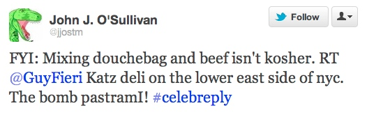 WINNERS CHOSEN: Check out the top 5 smart-ass responses to a tweet from Guy Fieri!