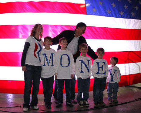 Romney campaign photo accidentally tells the truth about Mitt Romney.