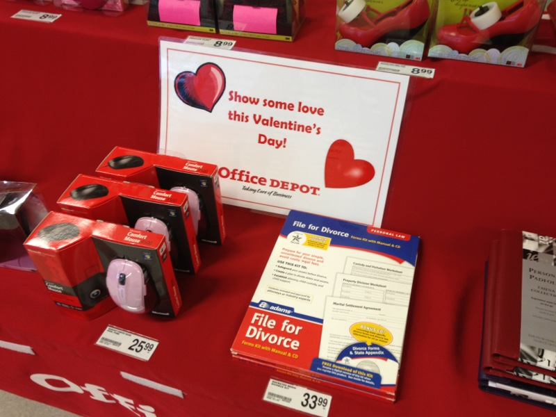 Office Depot has perfect gift idea for anyone who'd do their Valentine's Day shopping at Office Depot.