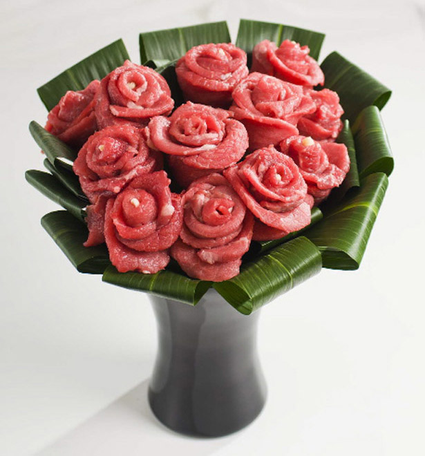 The manliest bouquet of roses ever created.