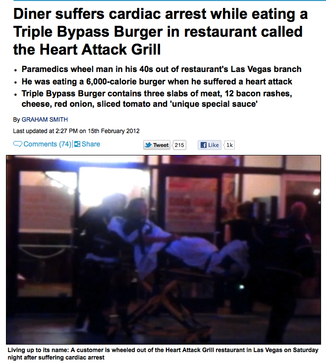 Man almost dies of least surprising heart attack in history.