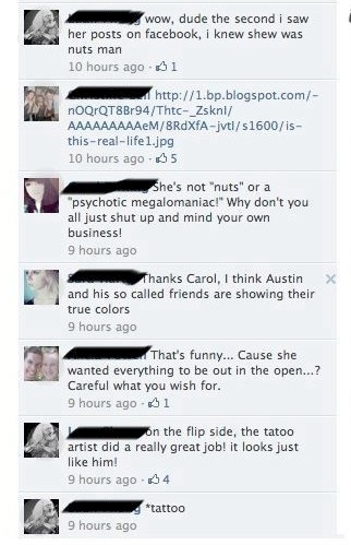 Amazingly awful tattoo leads to amazingly public Facebook breakup.