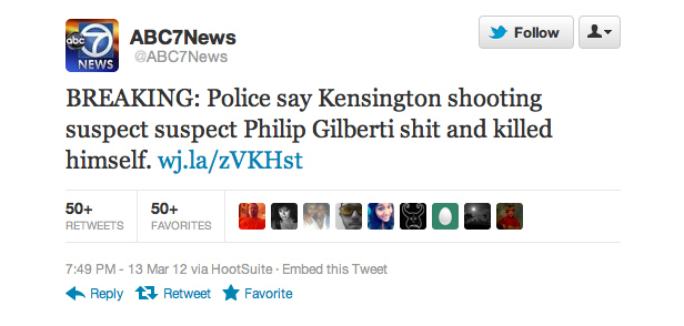 Local news Twitter typo accidentally makes tragedy extremely gross.