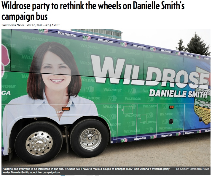 The most unintentionally inappropriate campaign bus of this election season.