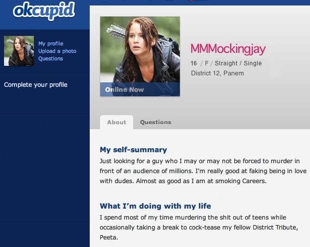 Witty online dating profile examples