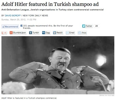 The most ridiculously offensive shampoo commercial since the end of World War 2.