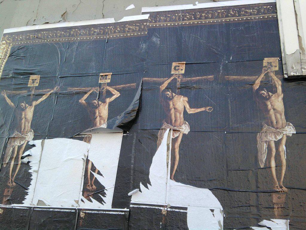 Amusingly blasphemous street art depicts Jesus's love of disco.