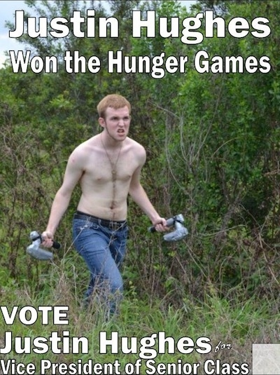 High school student's campaign posters sure to win the support of nerdy gingers.