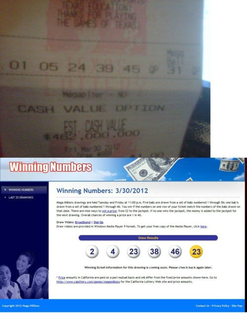At least this wasn't your Mega Millions ticket.