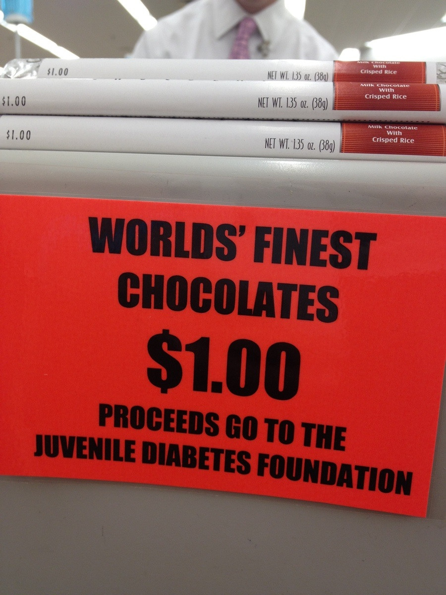 A sign for the world's least effective fundraiser.