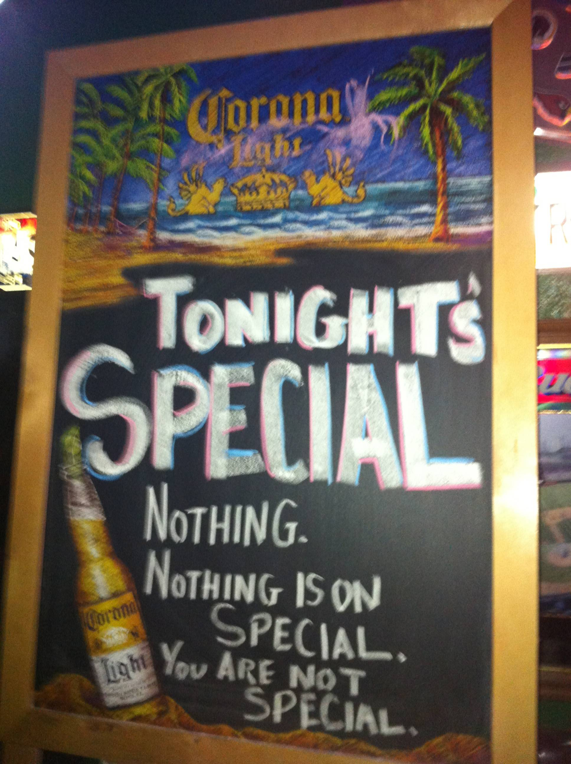 A brutally honest bar sign that will really make you feel like drinking.