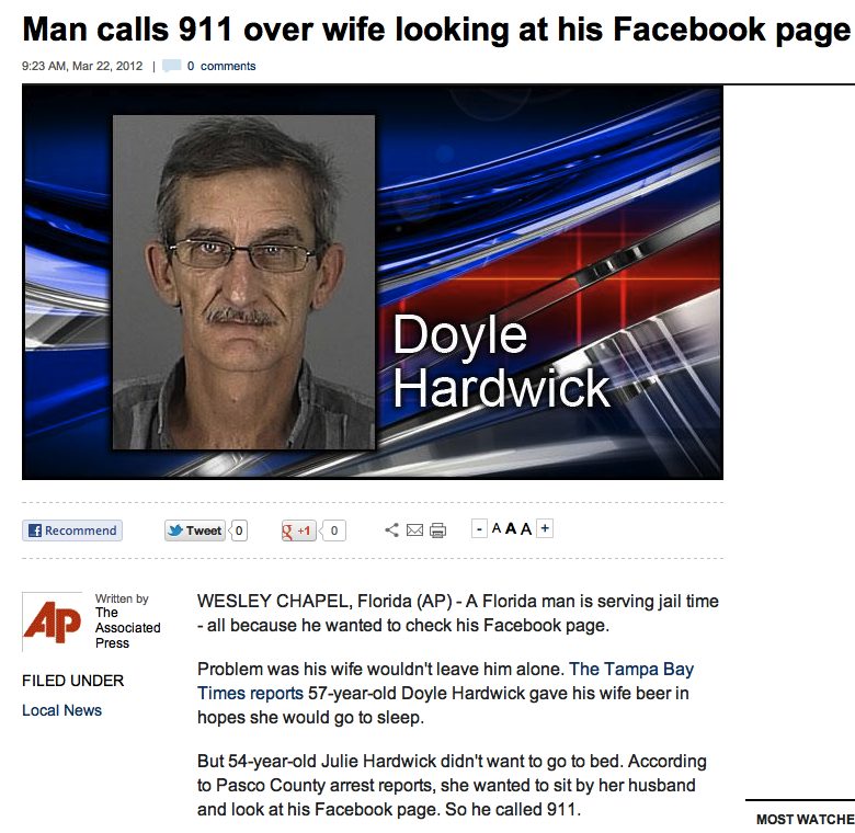 The most insane real-life overreactions to Facebook activity.