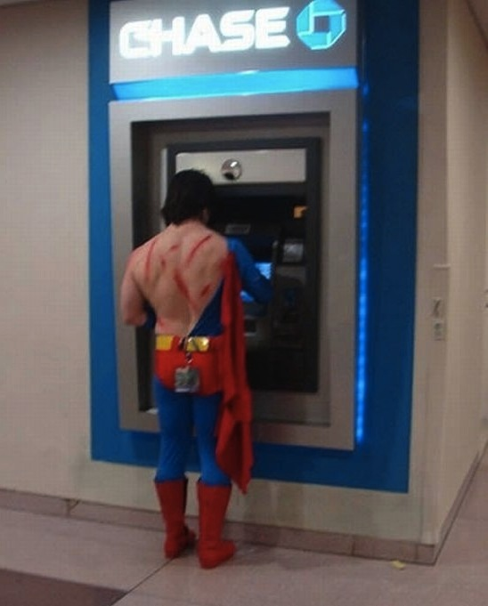 8 more people dressed as superheroes who aren't remotely acting like superheroes.