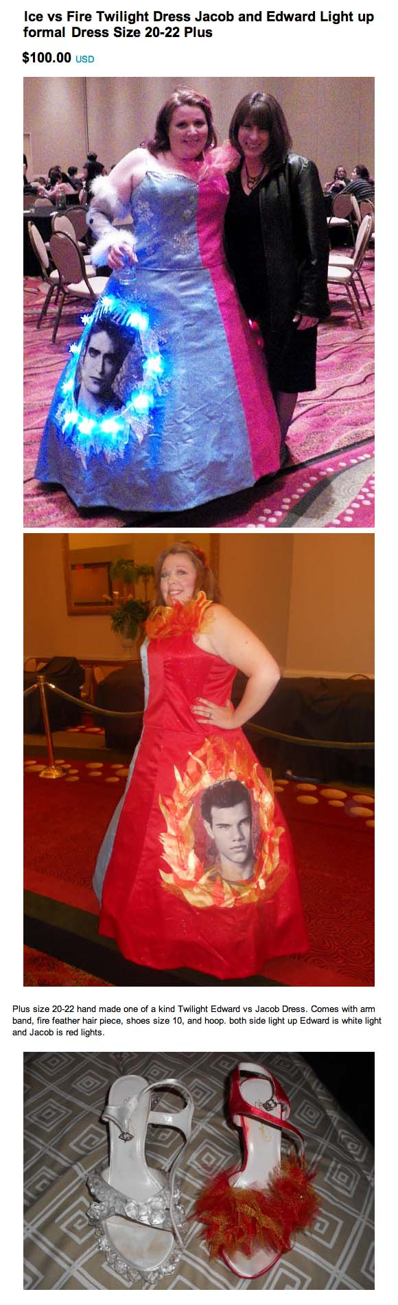 Twilight-themed prom dress infinitely sadder than not going to prom at all.