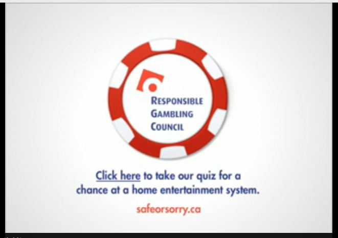 Compulsive gambling public service ad forgets that it's trying to curb gambling.