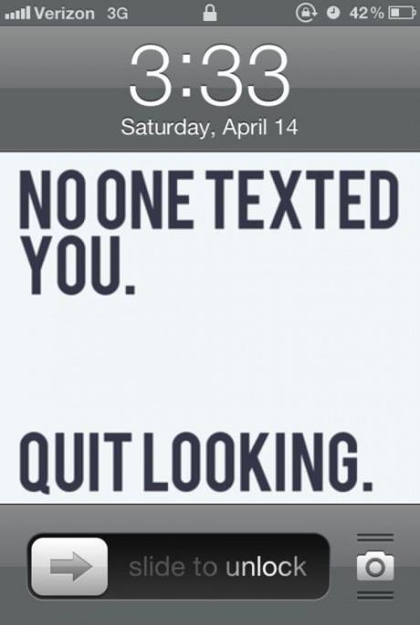 An iPhone wallpaper that could save you from being completely obnoxious.