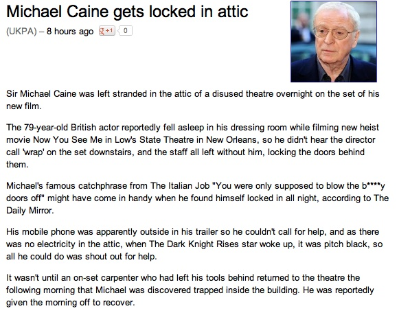 How not to treat a 79-year-old world-renowned actor.