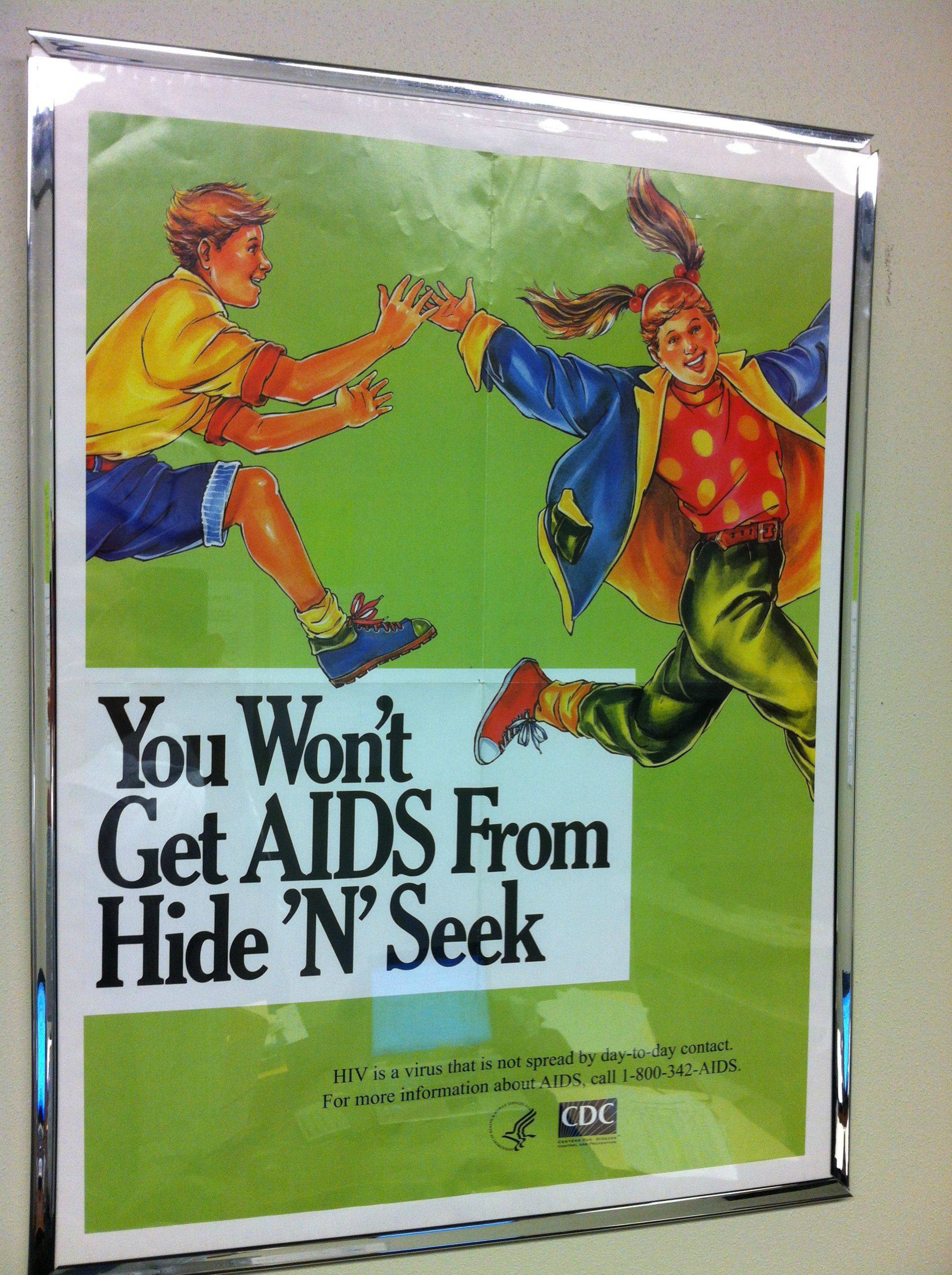 Bizarre poster debunks one of the lesser-known myths about sexually transmitted disease.
