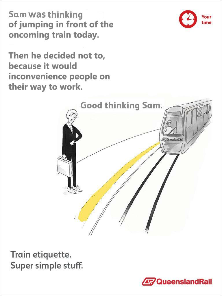 Brutally honest PSAs about public transportation etiquette.