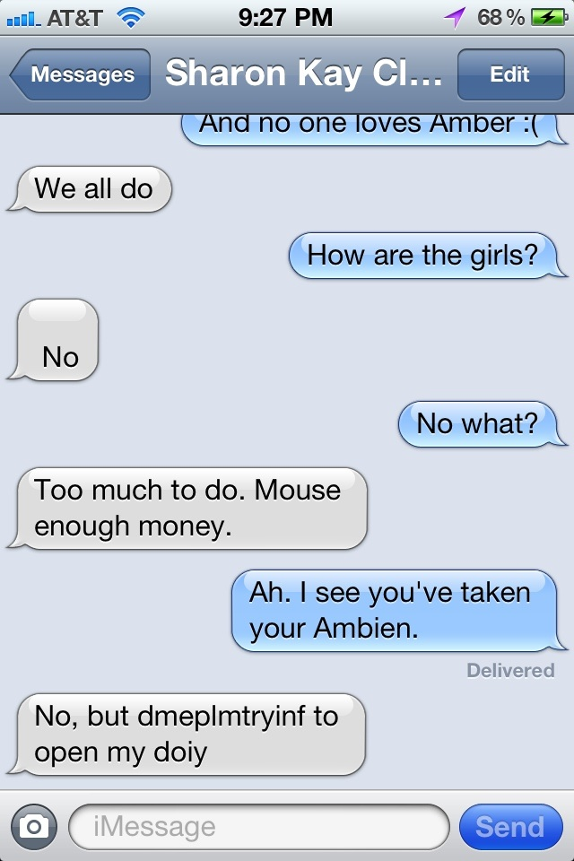 Why you should never text while on Ambien.
