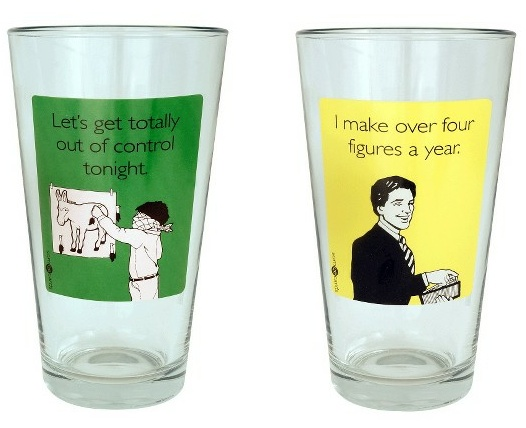 Now your beer glasses can be as funny as you think you are after a few beers.