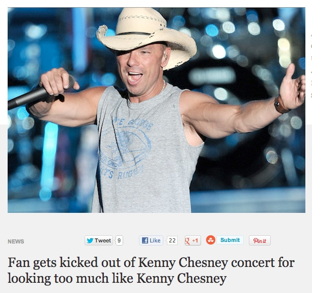 Yet another reason to never go to a country music concert.