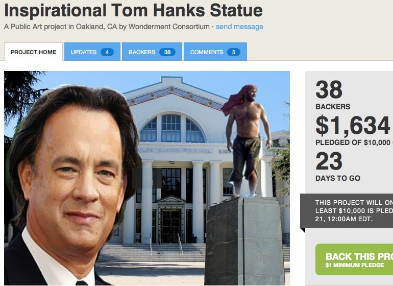 Witness the most brilliantly insane Kickstarter project involving statues of America's favorite movie star.