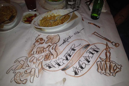 An incredibly artistic way to let a restaurant know your food was terrible
