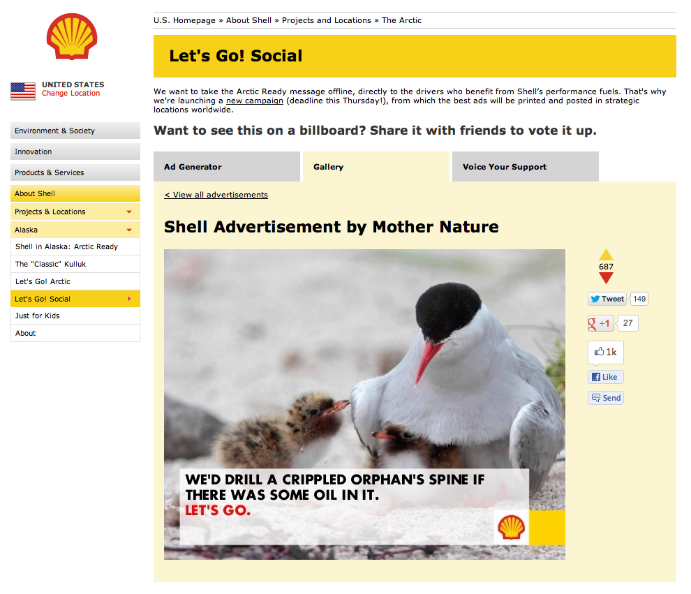 How to humiliate a giant oil company using the internet.
