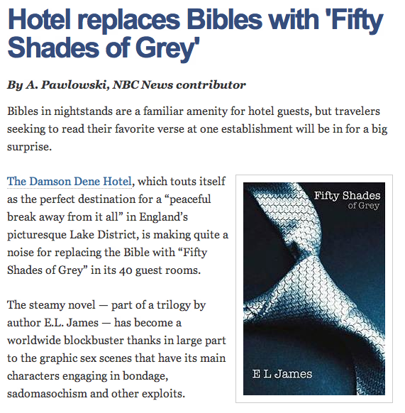 Proof that Fifty Shades Of Grey is officially bigger than Jesus now.