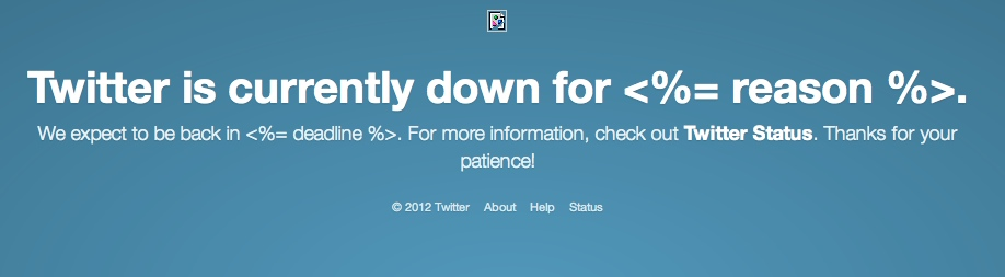 What it looks like when Twitter fails at failing.