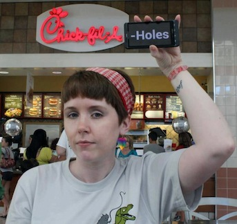 The most brilliantly subtle Chick-fil-A protest you'll see today.