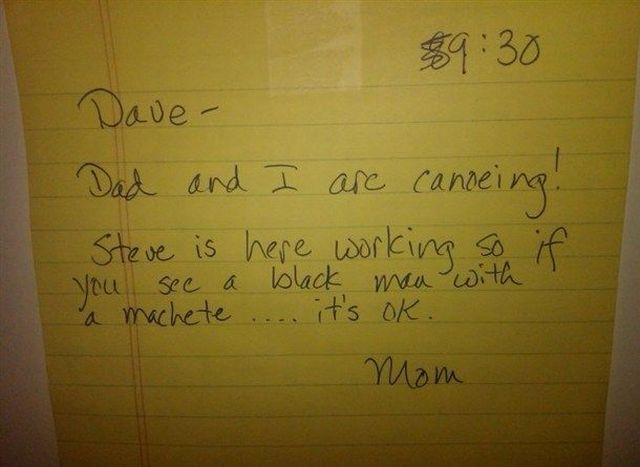 11 amusingly bizarre notes from completely insane mothers.